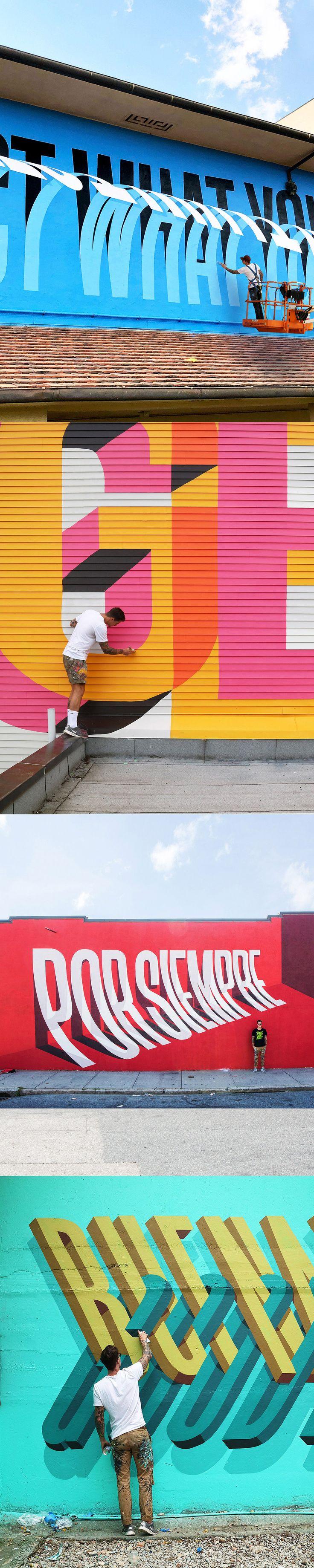 Typographic Street Art by Ben Johnston