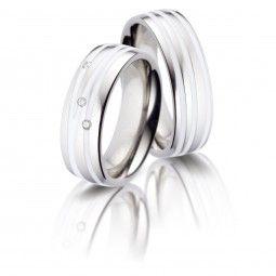 Partnerringe / Eheringe Titan Keramika II | Titan/Keramik | Keramik / Diamant