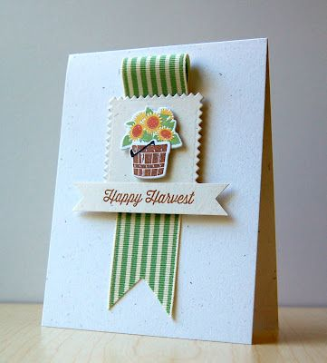 Cristina Kowalczyk for Wplus9 featuring Happy Harvest stamp set and dies.