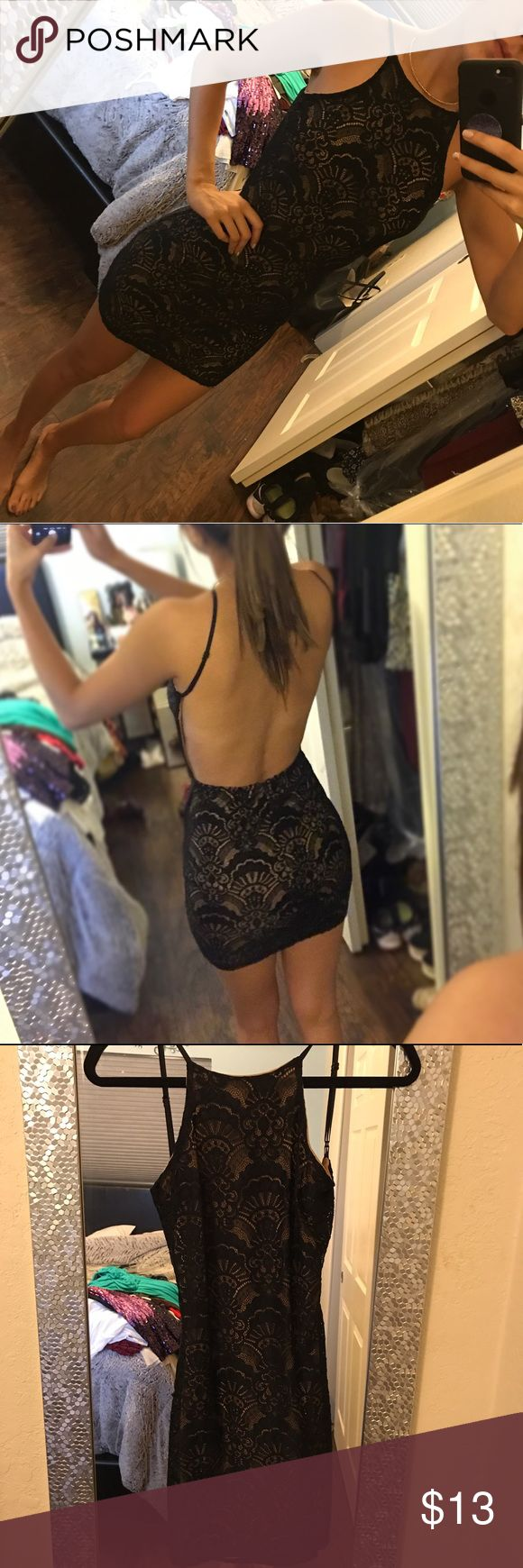 Bodycon crochet backless dress Size S  going out backless dress ANGL Dresses Mini