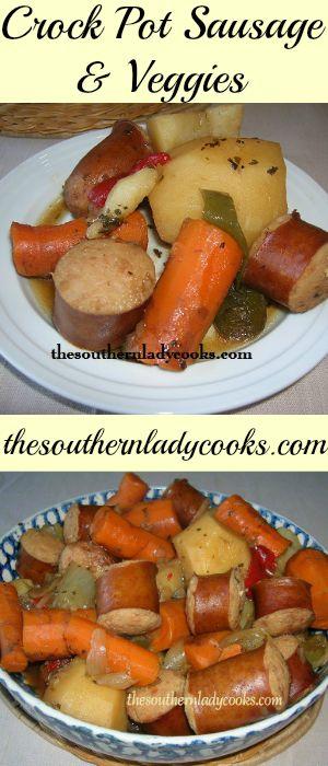Crock Pot Sausage & Veggies
