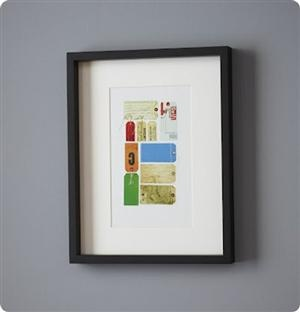 Framed Ticket Art - great idea for concert tickets too!