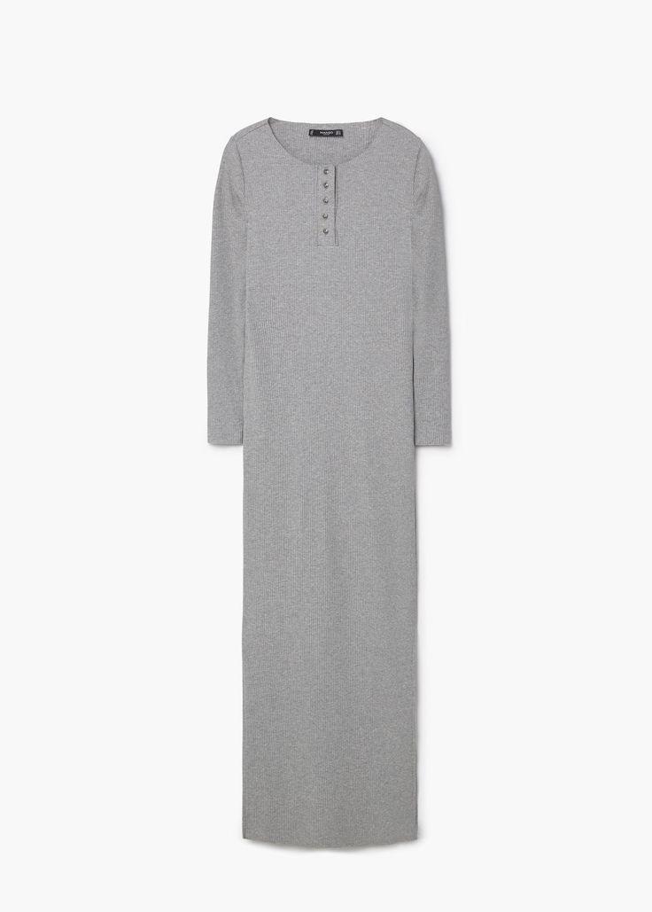 Tailored ribbed dress | MANGO