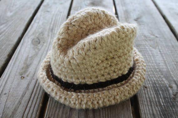 Newborn Cowboy Hat Ready to Ship crochet cowboy hat baby