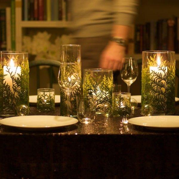 DIY: Dekorer lysglass for festbordet!