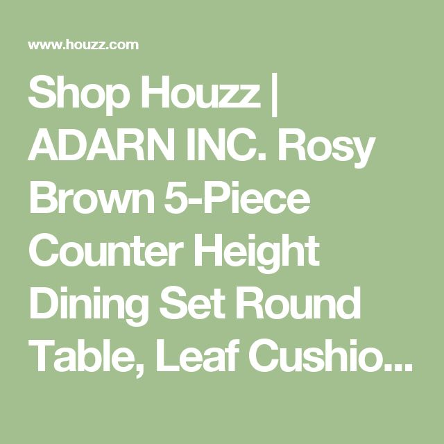 Shop Houzz | ADARN INC. Rosy Brown 5-Piece Counter Height Dining Set Round Table, Leaf Cushion Chair - Indoor Pub And Bistro Sets
