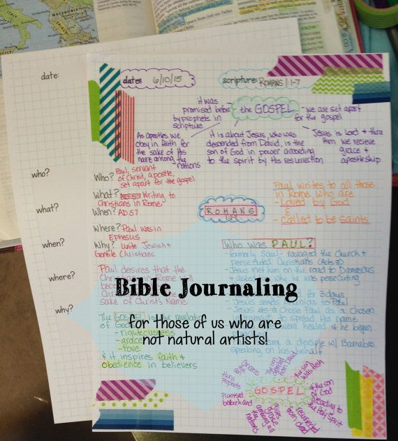 Day 1 of my Romans Study.  I'm using the Bible Journal Pages Download by FarmGirlJournals on Etsy