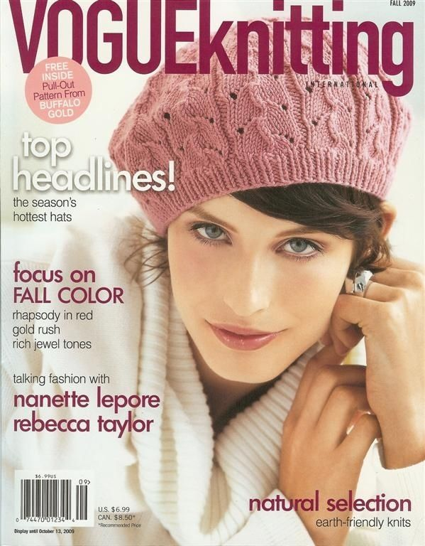 """Cycle 11 winner McKey Sullivan covered """"Vogue Knitting""""* in Fall '09."""