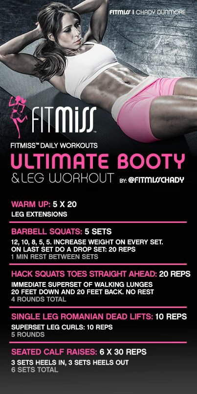 FitMiss Ultimate Booty and Leg Workout
