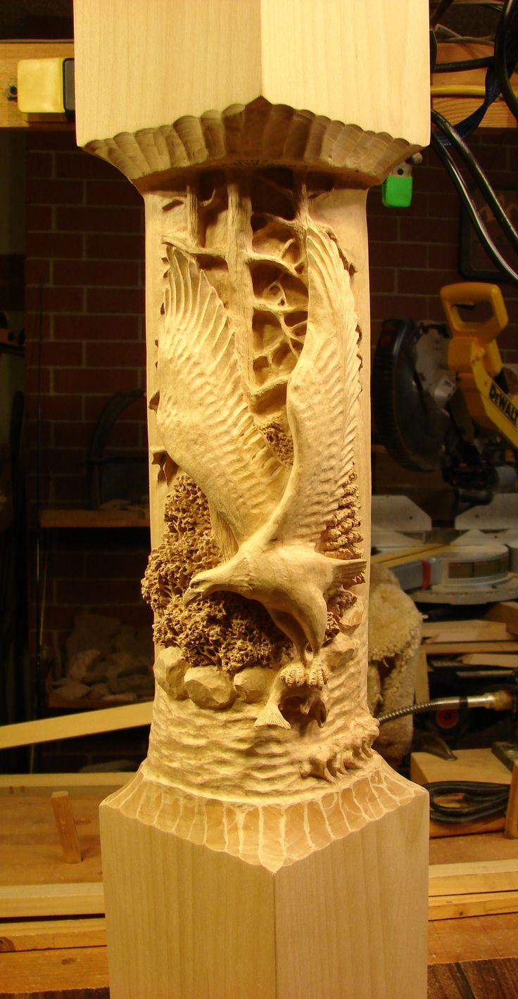 Huge old hand carved wood federal eagle folk art wooden eagle wall - Idaho Eagle