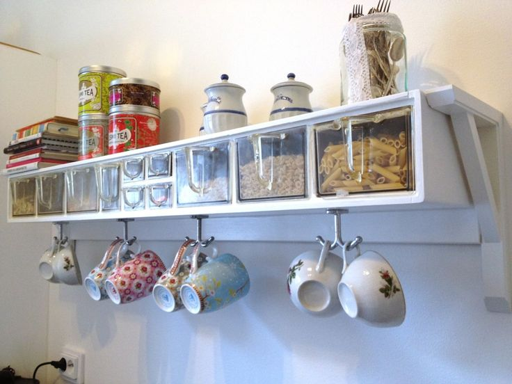 coffee mug shelf with hooks - Google Search