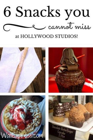 Take a trip around Hollywood Studios for 6 snacks you cannot miss at Hollywood Studios!
