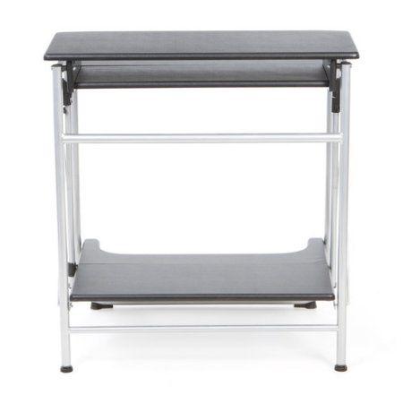 Comfort Products Freeley Folding Computer Desk, Black