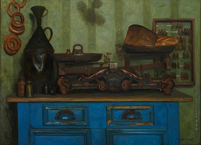 Деревенская лавка - Коржев-Чувелев Г. М. :: Артпоиск - русские художники