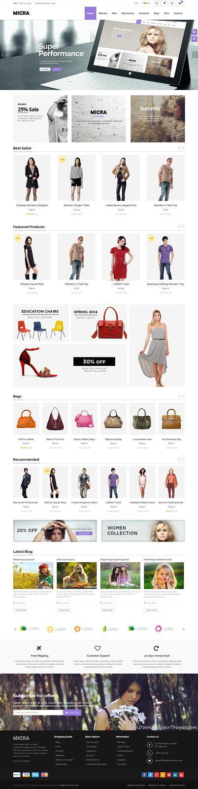 Awesome New Responsive Multipurpose #Magento Theme #inspiration #fashion #store #eCommerce #webdesign
