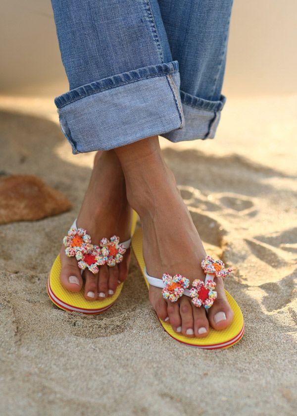 Flip flop flowers