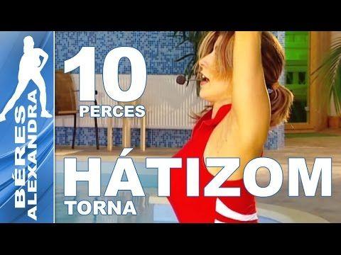 Béres Alexandra torna ||  Mellizom edzés 2. || 10 perc - YouTube