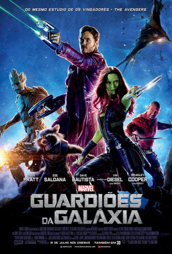 """Cartaz nacional do filme """"Guardiões da Galáxia"""" http://cinemabh.com/imagens/cartaz-nacional-do-filme-guardioes-da-galaxia"""