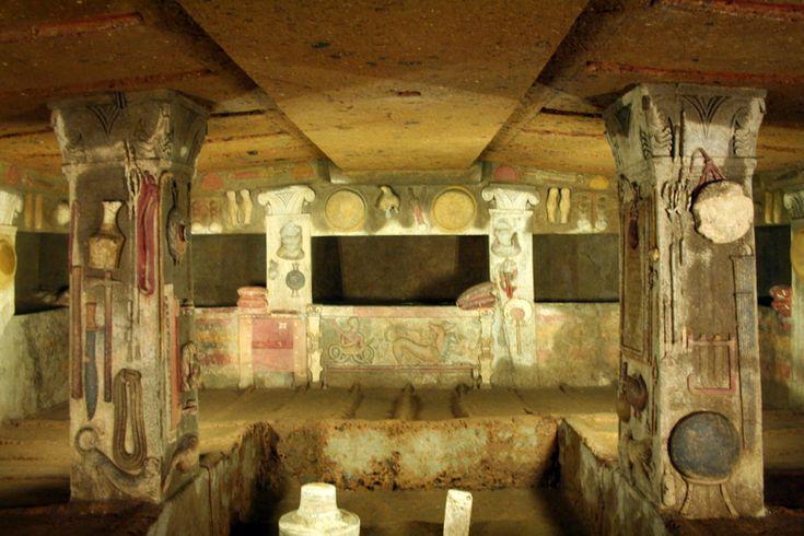 Tomba dei Rilievi - Tomba etrusca a Cerveteri