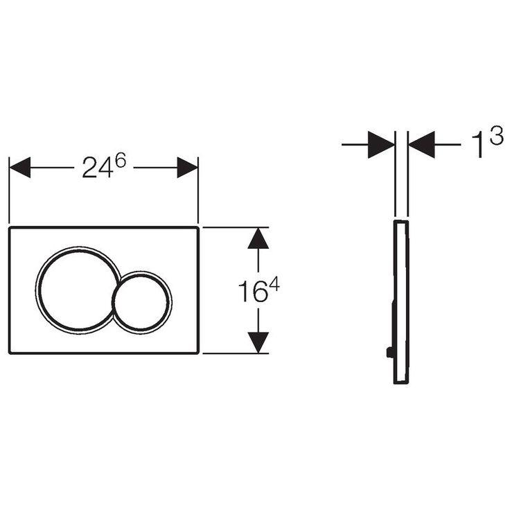 Geberit Betätigungsplatte Sigma01 für 2-Mengenspülung 115.770.11.5 - MEGABAD