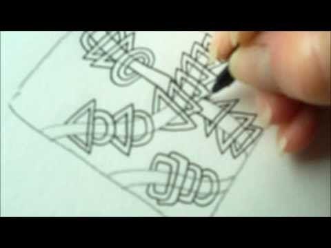 ▶ How to draw tanglepattern Rixty - YouTube