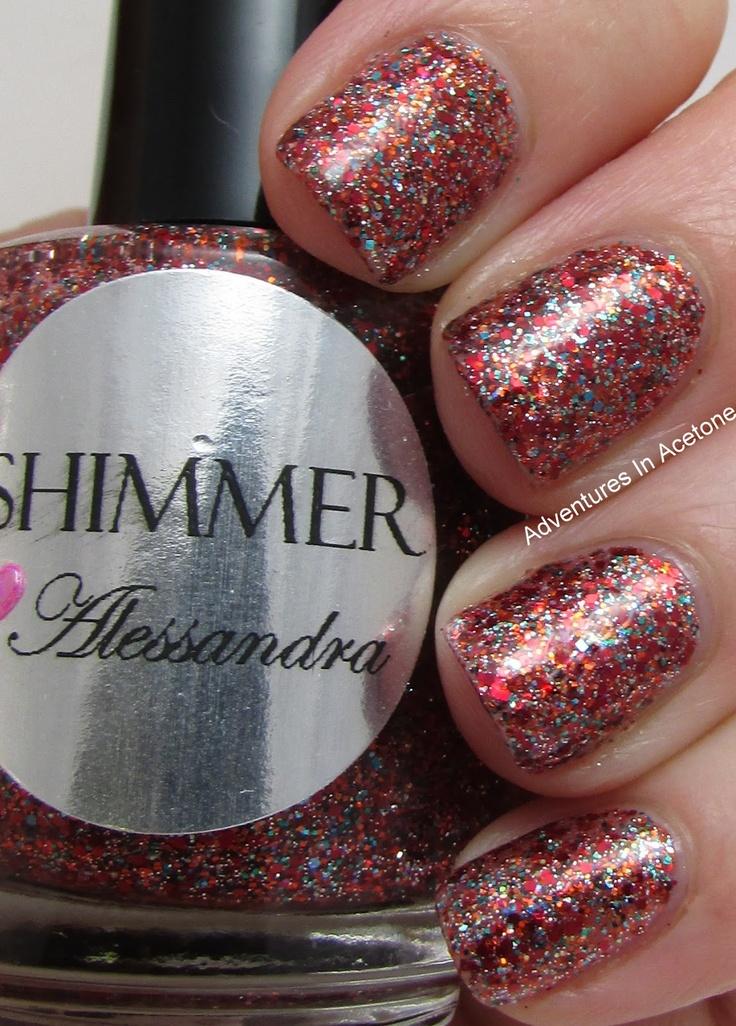 Shimmer Polish Alessandra  Adventures in Acetone