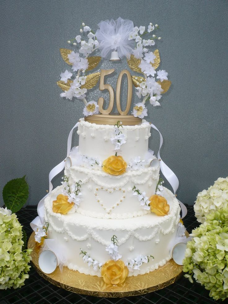 17 best images about wedding cakes for 50th anniversary for 50th wedding anniversary cake decoration ideas