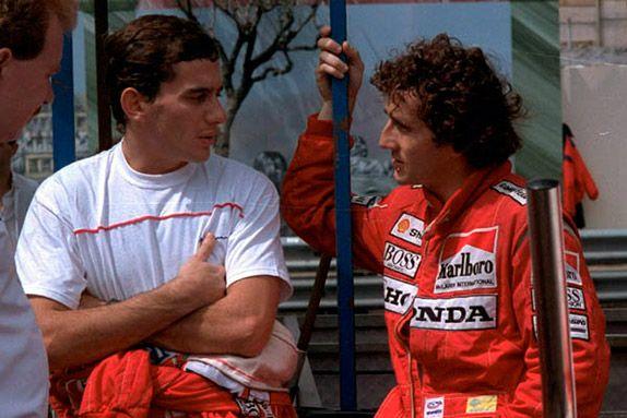 Айртон Сенна и Ален Прост на Гран При Монако 1988 года