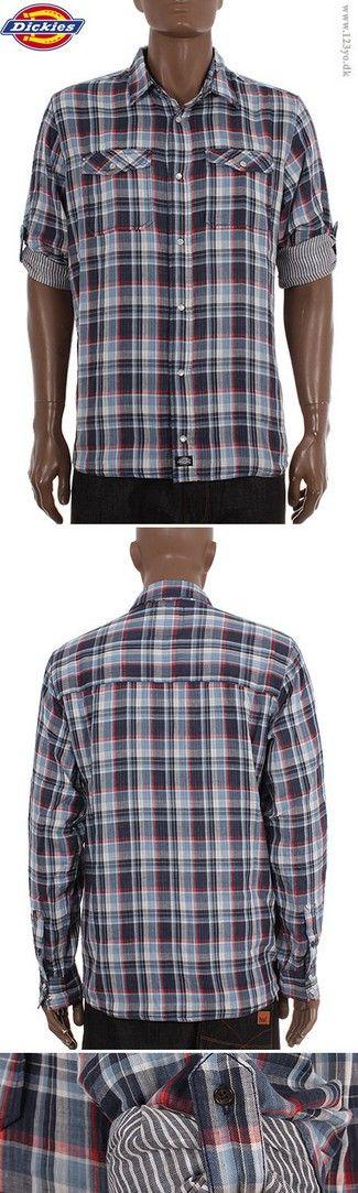 DICKIES Langærmede Cotton skjorte