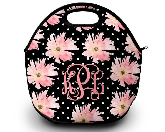 Lunch Bag Monogrammed Lunch Box Personalized Lunch Bag Monogram Lunch Tote Lunch Bag for Women | by SassySouthernGals now at http://ift.tt/2iejQuB