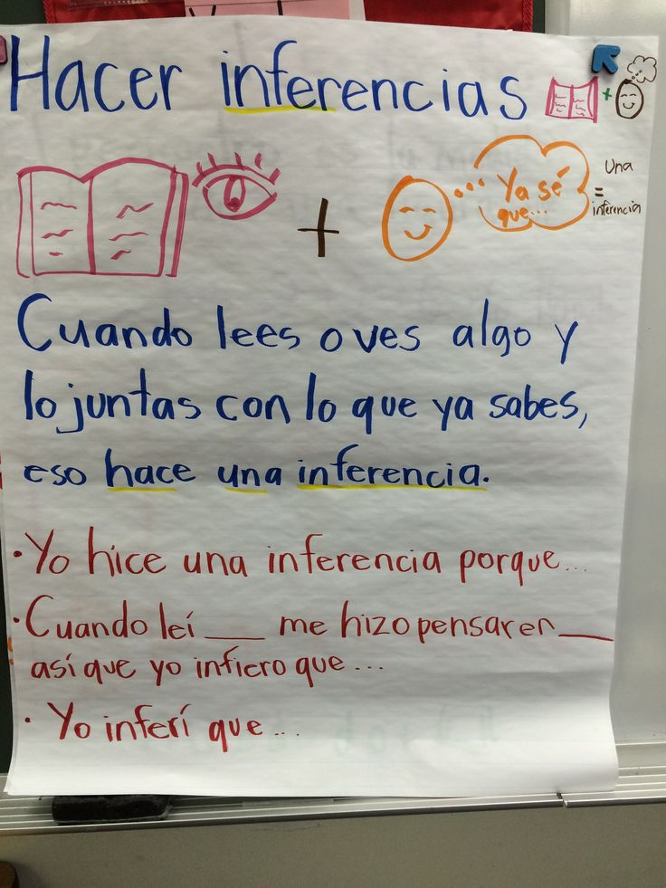 hacer inferencias :: make inferences :: infer :: inferir :: 3rd grade