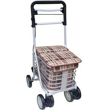 4 Wheeled Mobility Shopping Trolley With Square Lid