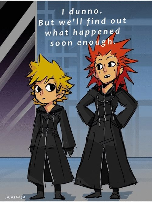 Axel Appreciation WeekDay 3- Favorite funny quoteReason #345 why 358/2 days should have been a full game: Axel and Roxas' casual dialogue is just flat out hilarious… this being one of many sarcastic/witty remarks by Axel that never made it into the 'movie'