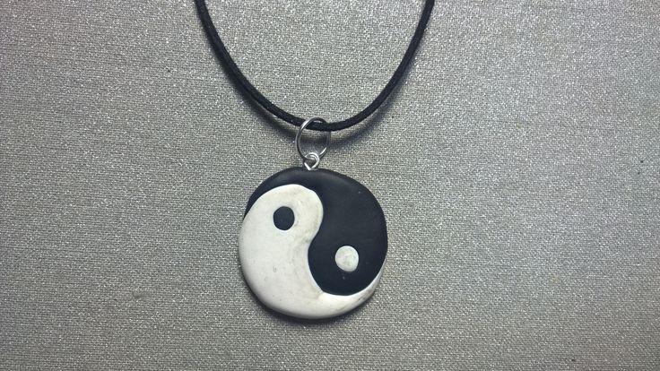 Handmade Polymer Clay Jin Jang necklace