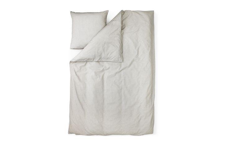 Plus Bed linen in grey   Minimalistic designer bed linen in modern print
