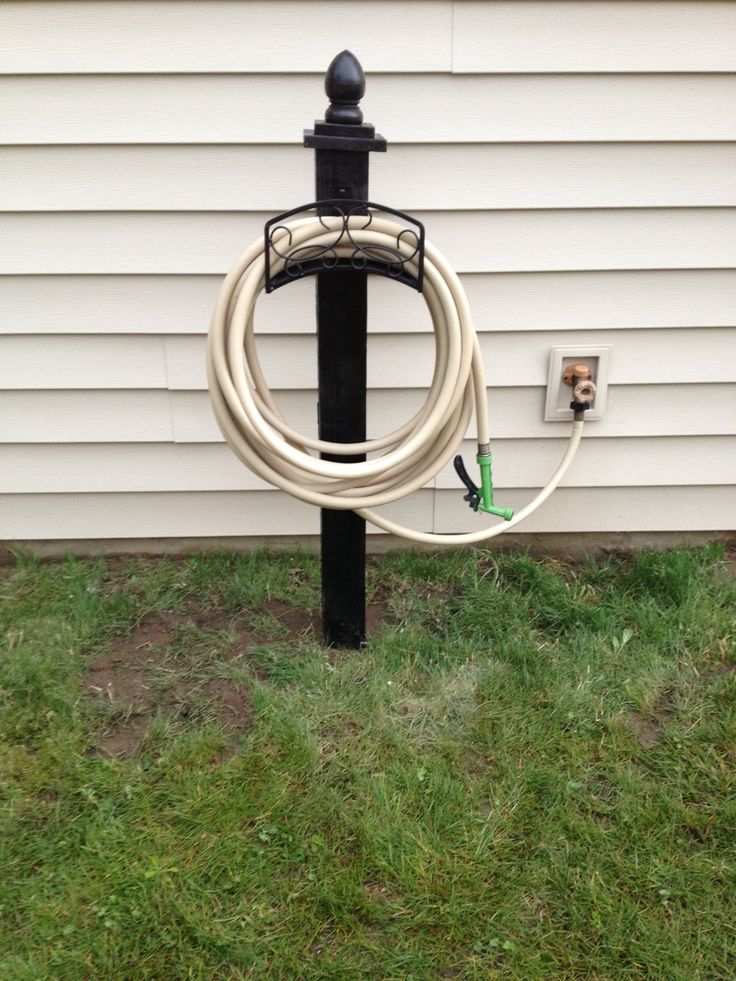 Build Your Own Garden Hose Reel. 4 Foot Treated Post, Treated 1x6 Cut To