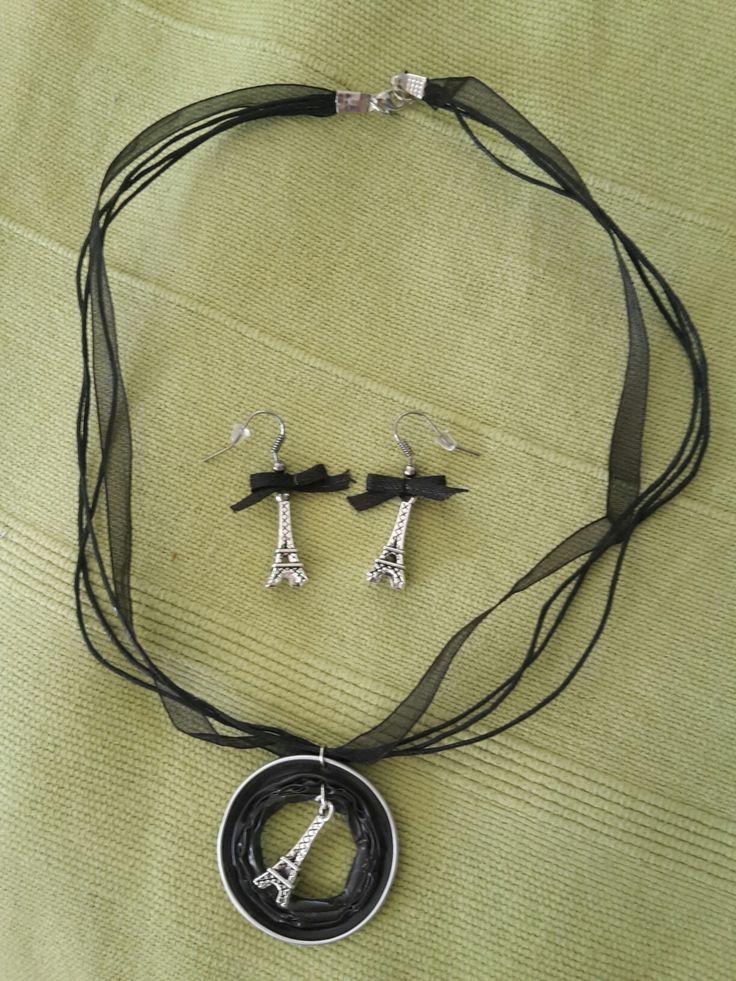 Paris - Nespresso capsule necklace and earrings