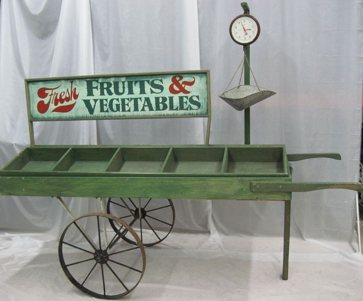 vegetable cart | Fruit & Vegetable Cart can be used as a d cor prop or functional ...
