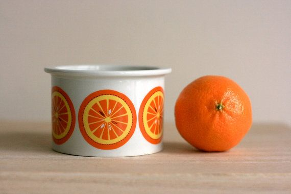 Vintage Arabia Oranges Jar