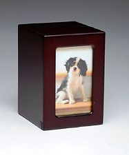 Pet Urn Peaceful Pet Memorial Keepsake Urn,Photo Box Pet Cremation Urn,Dog Urn,C