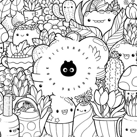 Pic Candle Doodle Coloring Book Last Chance Etsy Pic Candle Doodle Candle Doodle Coloring Books