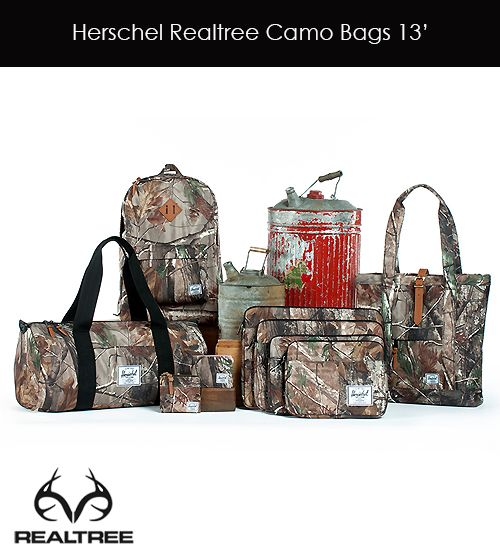 Realtree's New Project - Herschel Realtree Camo Bags 2013. Check Now!!