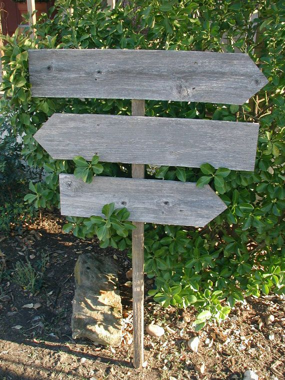 Diy Triple Board Reclaimed Fence Wood Wedding Sign On