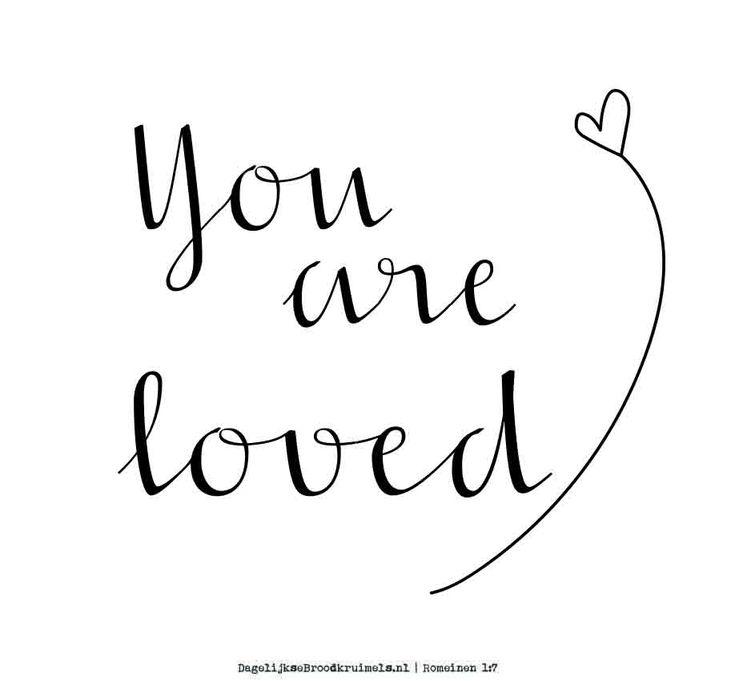 Je bent geliefd. Romeinen 1:7  #God, #Liefde, #Waarheid  https://www.dagelijksebroodkruimels.nl/romeinen-1-7/