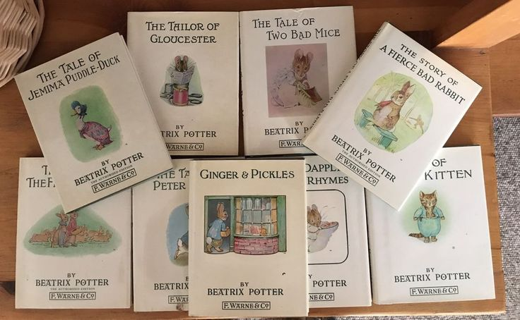 Beatrix Potter Books Set Of 9 Hardcover Small Size Vintage 1980s Good Condition  | eBay