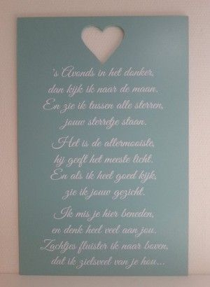 Gemaakt door sbling. nl zo een mooie tekst.