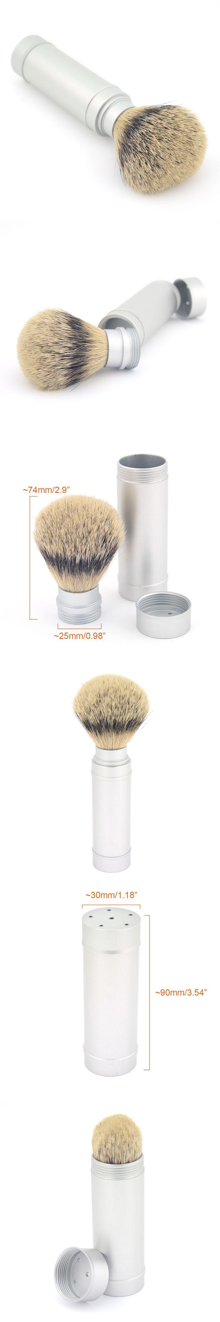 ZY Pure Silvertip Badger Hair Men Wet Shaving Beard Brush Metal Aluminum Travel Shaving Soap Cream Brush