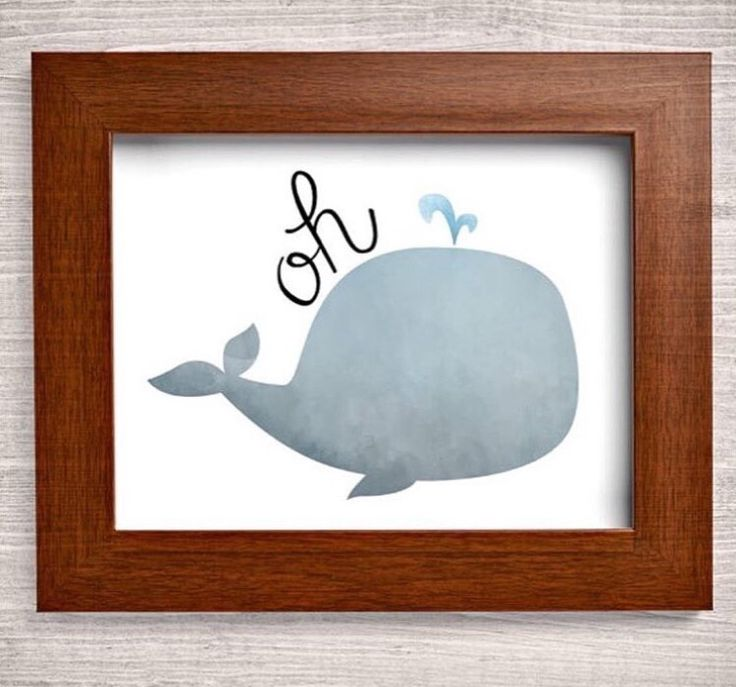 Oh whale canvas painting