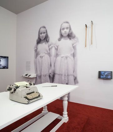 """#exhibitiondesign #exhibitiongraphics A """"Shining"""" moment from """"Stanley Kubrick,"""" on view at the Los Angeles County Museum of Art."""