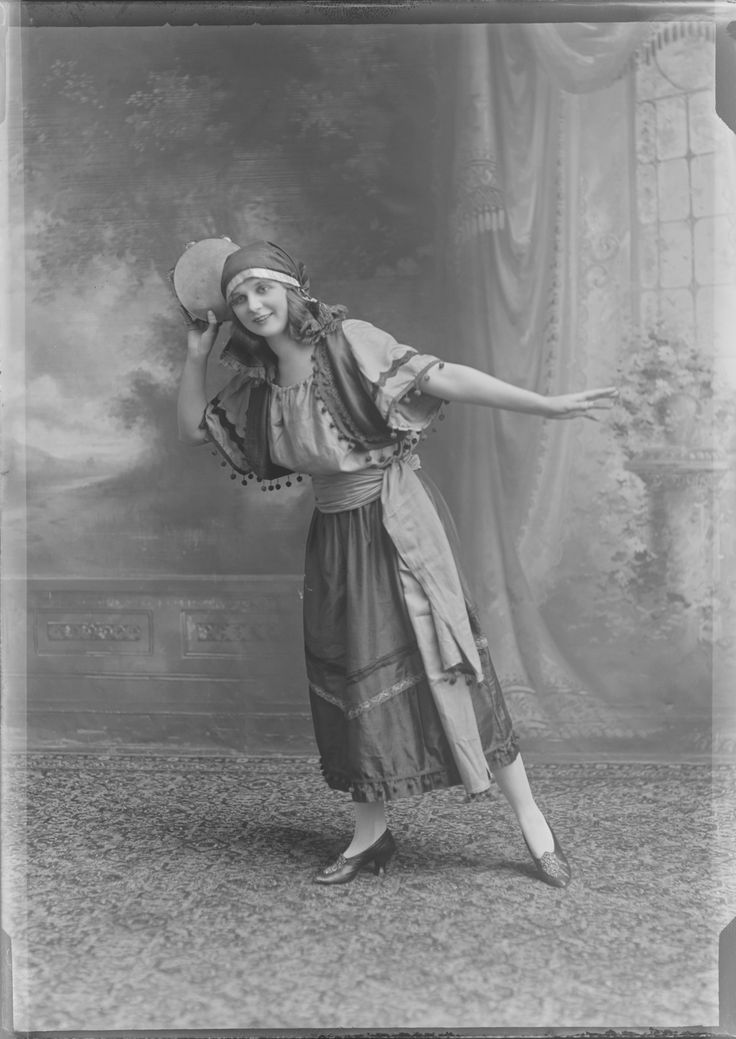 """Clarice took""""dress for the job you want, not the job you have"""" to the extreme.Drama troupes and performances, 1920 :: Milwaukee Polonia Digital Collection"""